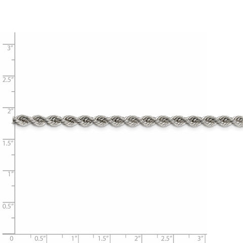 Sterling Silver 4.3mm Solid Rope Chain-WBC-QDR080-8