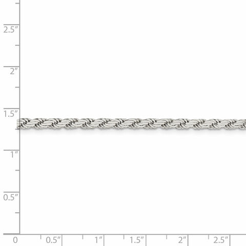Sterling Silver 3.1mm Flat Rope Chain-WBC-QFC204-8