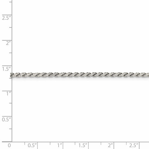 Sterling Silver 2.25mm Flat Rope Chain-WBC-QFC23-7