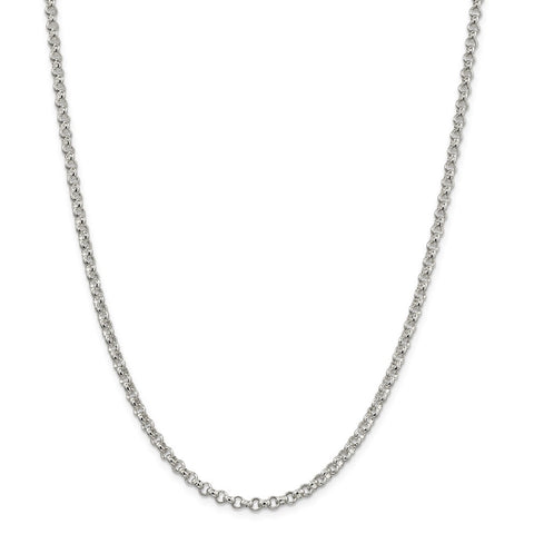 Sterling Silver 4mm Rolo Chain-WBC-QFC5-18