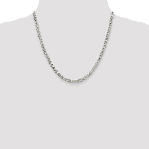 Sterling Silver 5mm Rolo Chain-WBC-QFC6-20