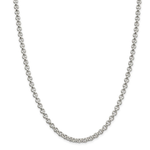 Sterling Silver 5mm Rolo Chain-WBC-QFC6-24