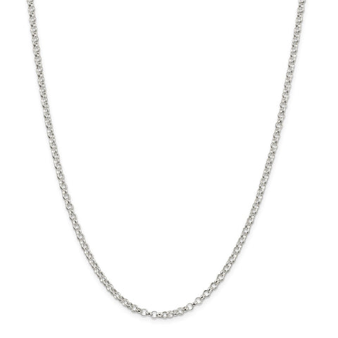 Sterling Silver 3mm Rolo Chain-WBC-QFC74-36