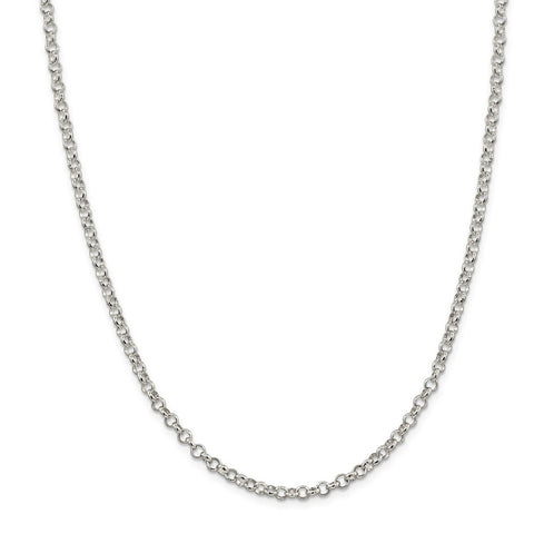 Sterling Silver 4mm Rolo Chain-WBC-QFC75-30
