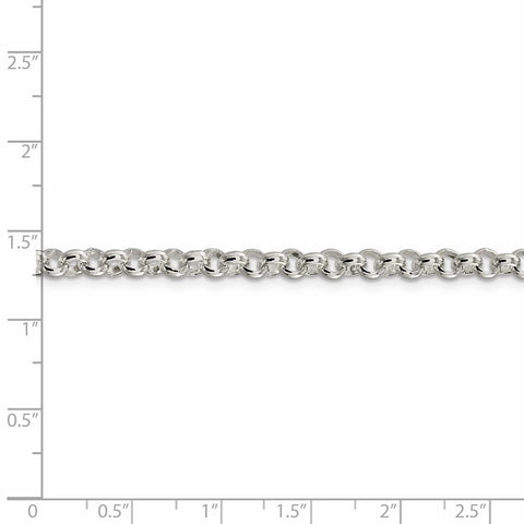 Sterling Silver 4.75mm Rolo Chain-WBC-QFC76-7