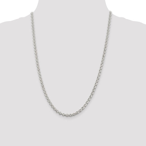 Sterling Silver 4.75mm Rolo Chain-WBC-QFC76-24