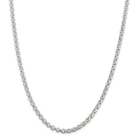 Sterling Silver 4.75mm Rolo Chain-WBC-QFC76-16