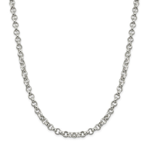 Sterling Silver 6.75mm Rolo Chain-WBC-QFC78-24