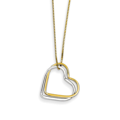 Troubled Heart pendant with bail and chain
