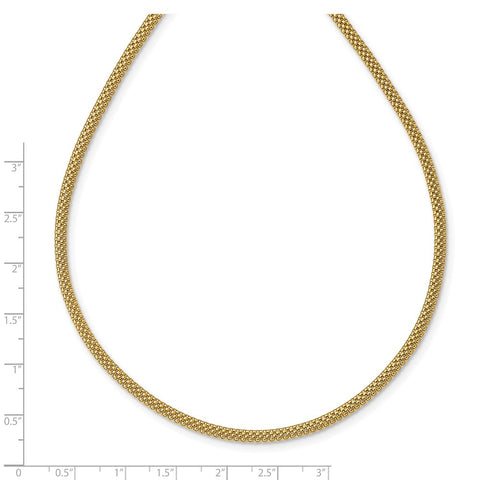 14K Mesh Link Necklace-WBC-SF2728-17.5