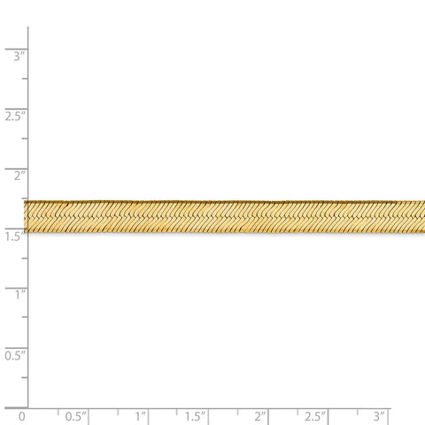 14k 6.5mm Silky Herringbone Chain-WBC-SLK065-18