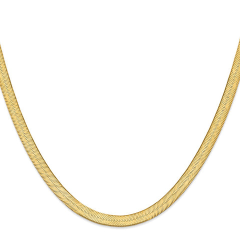 14k 6.5mm Silky Herringbone Chain-WBC-SLK065-16