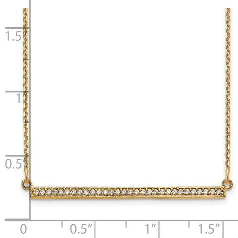 14ky Diamond Bar Necklace-WBC-XP5031VS