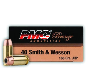 PMC Ammunition -  40 S&W Hollow Point - 165 GR - 50 Rounds