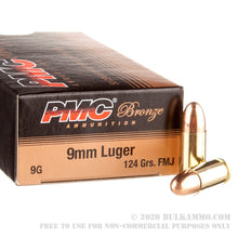 Load image into Gallery viewer, PMC Ammo - 9MM Luger - FMJ - 124 GR - 50 Rounds