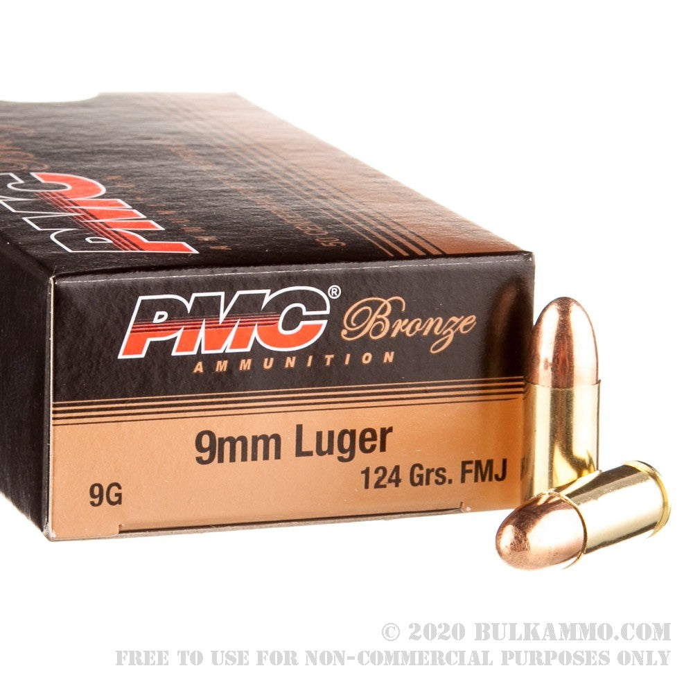 PMC Ammo - 9MM Luger - FMJ - 124 GR - 50 Rounds