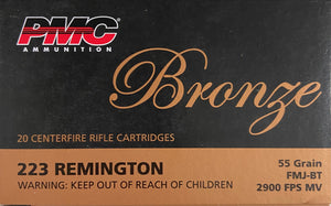 PMC Ammo - 223 Remington - FMJ - 55 GR - 20 Rounds