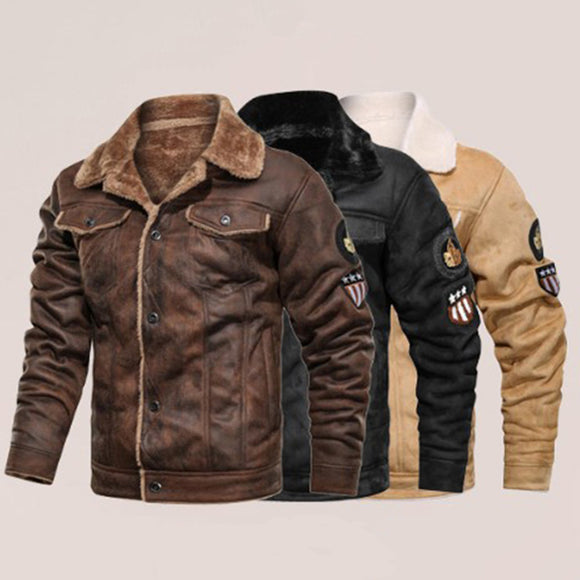 New Fashion Men's Warm Leather Jacket(Buy 2 Get 10% off, 3 Get 15% off )