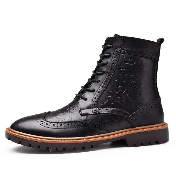 Fashion Men's Autumn Winter Bullock High-top Cotton Boots