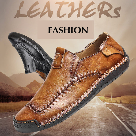 Handmade Leather Men Casual Loafers Shoes(Buy 2 Get 10% off, 3 Get 15% off )
