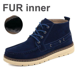 Shoes - Men's Winter Cow Suede Leather Ankle Boots