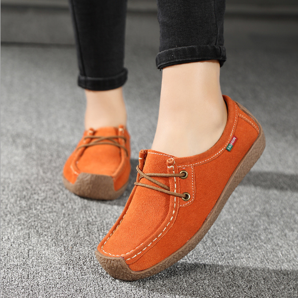 Fashion Autumn Lace-Up Comfortable and Soft women Flats