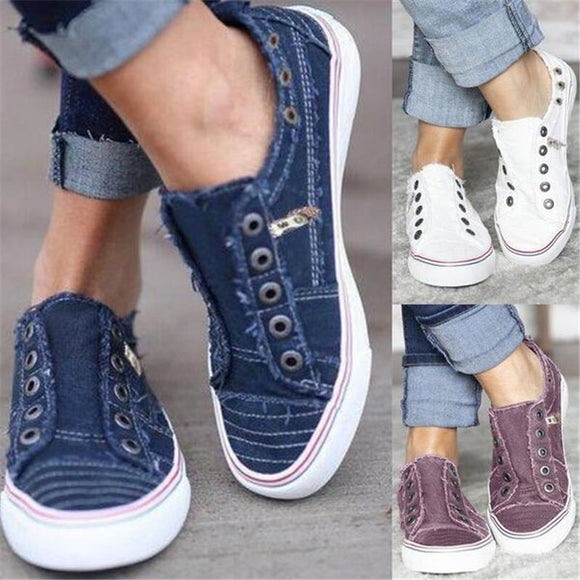 2019 Hot New Breathable Comfortable Slip-on Canvas Flat Shoes