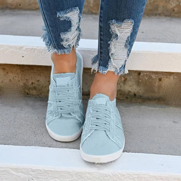 Casual Women Comfortable Breathable Slip-on Canvas Sneakers