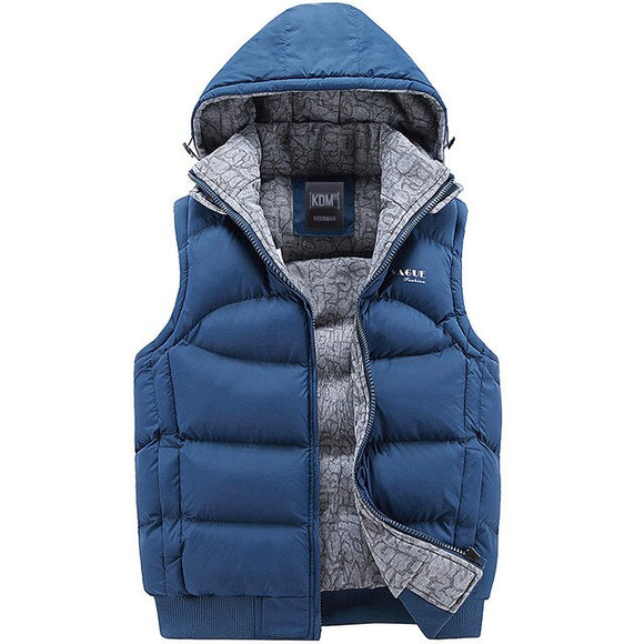 Hot Sale Men's Down Hooded Warm Vest(Buy 2 Get 10% off, 3 Get 15% off )