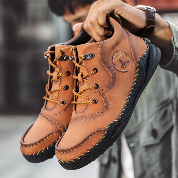 Yokest Mens Wear-resistant Retro Style Ankle Boots