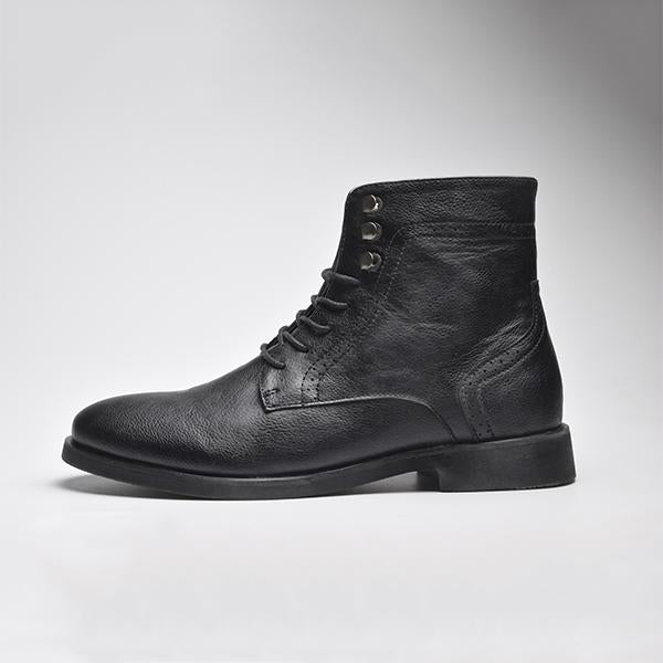 Men's Autumn Winter Handmade Fashion Leather Warm Ankle Martin Boots