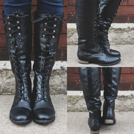 Women PU Leather Mid-Long Boots