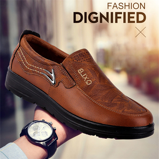 Men's Spring Autumn Plus Size Leather Shoes