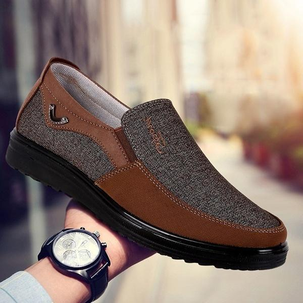 Shoes - Large Size Men's Fashion Style Comfortable Slip On Flat Shoes