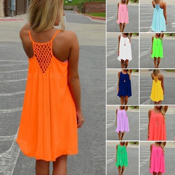 Dresses - Summer Casual Sleeveless Beach Backless Dress