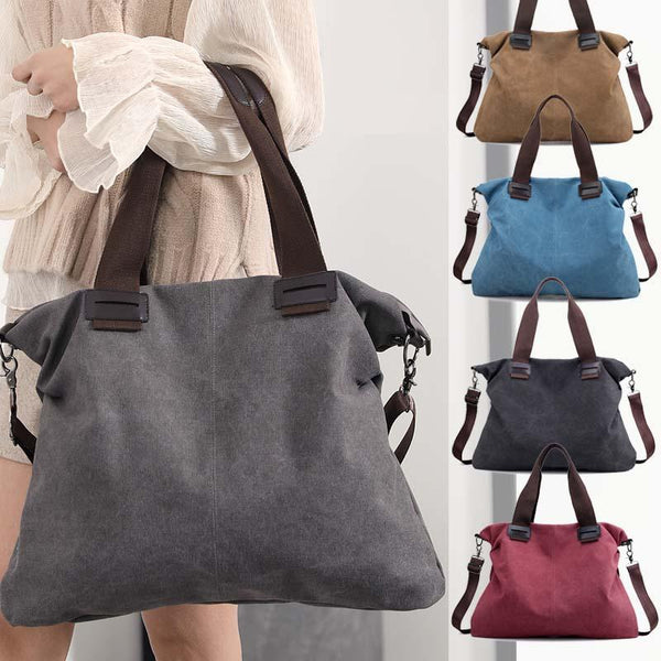 New Large Pocket Canvas Handbags