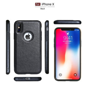 Case & Strap - Luxury Shockproof Vintage PU Leather Back Ultra Thin Case Cover For iPhone 11 11pro 11 pro max MAX X XR XS 8 7 plus