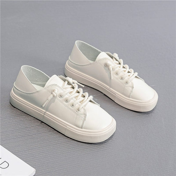 Fashion Leather Flats Women's Casual Shoes
