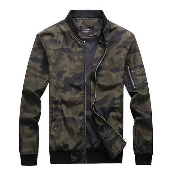 Big Size 7XL Men's Camouflage Jacket