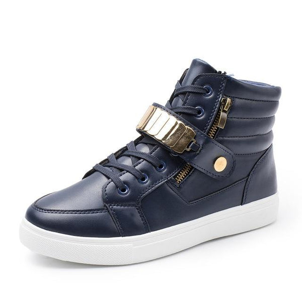 Men's Shoes - Men's Fashion Soft High-Top Sneakers