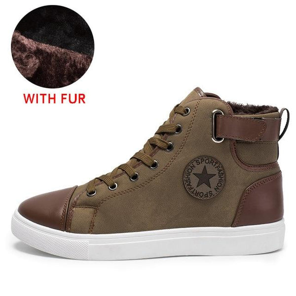 Men's Shoes - 2019 Men Fashion Winter Casual Canvas Shoes