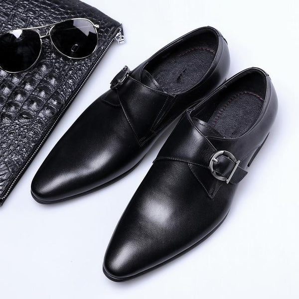 Shoes - Men's Business Casual Pointed-toe Leather Oxford Shoes