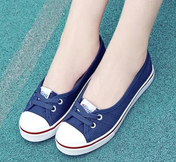 Women's Shoes- Fashion Slip On Canvas Shoes
