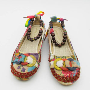 Shoes - New Retro Embroidered Ankle Straps Loafers