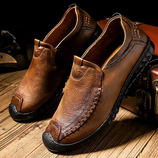 Men's Shoes - Handmade Soft Comfortable Quality Split Leather Shoes