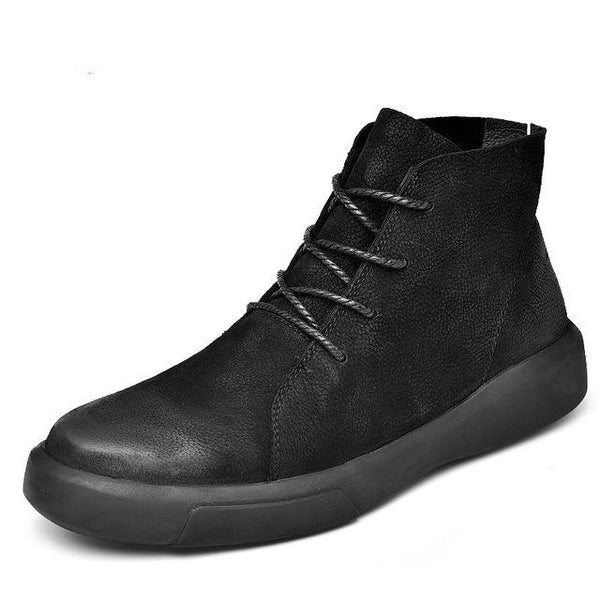Men's Shoes - Men's Fashion Lace Up Rubber Ankle Snow Boots