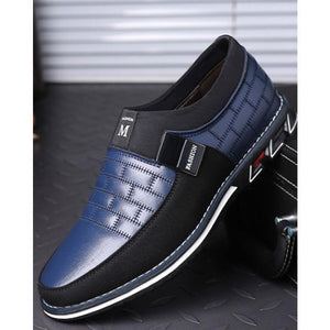 Men's Shoes - Casual Leather Slip On Magic Closure Loafers