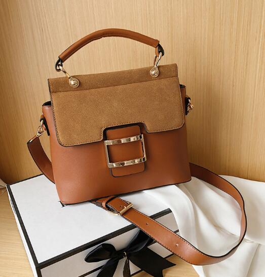 Fashion Buckle PU Leather Crossbody Bags