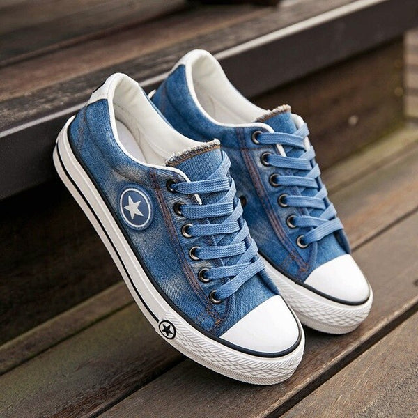 Fashion Light Breathable Denim Casual Canvas Sneakers