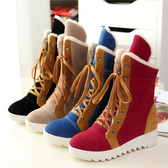 Women's Shoes - Women Autumn/Winter Warm Mixed Colors Snow Boots